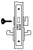 Yale AUCN 8802FL 613 Mortise Lever Lock