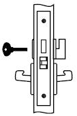 Yale COCN 8802 613 Mortise Knob Lock